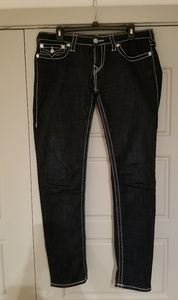 True Religion Big T Skinny Flap Jean's Sz 31